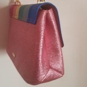 491037683ec Aldo Bags - Aldo Metallic Striped Crossbody Shoulder Bag Purse